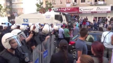 Сблъсъци между протестиращи и полиция в Диарбекир