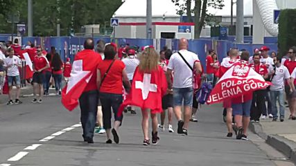 France: Polish and Swiss fans head to final 16 face off