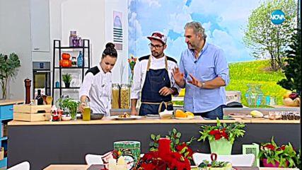 Дани Спартак и Светла приготвят патешко магре с портокалов сос и цикория