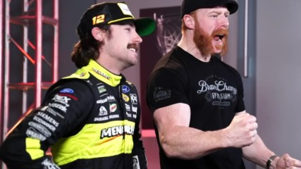 Sheamus teaches NASCAR drivers how to talk trash like Superstars