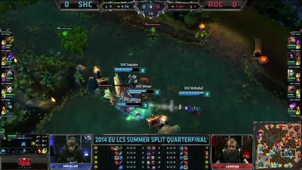 SHC vs ROC - 2014 LCS Summer Quarterfinal - Game 1