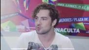 David Bisbal Rueda De Prensa Mexico 2014