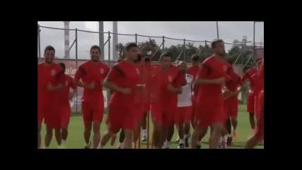 Бенфика се готви за мача със Зенит от Шампионската лига