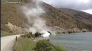 Ето така се гаси огън • С моторна лодка