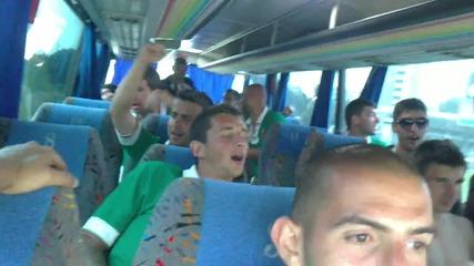 Празнуваме в рейса победата