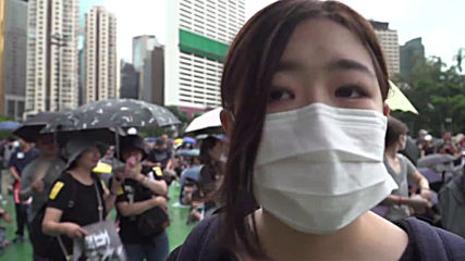 Hong Kong: Tens of thousands attend anti-government rally in Victoria Park