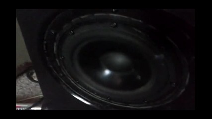Logitech X-530 Subwofer Test 50 % volume