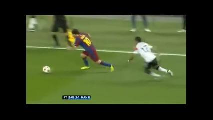 Lionel Messi Mesmerized Nani