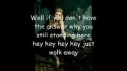 Kelly Clarkson - Walk Away [текста]