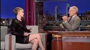 Дженифър Лорънс на гости при Дейвид Летерман - 20 Ноември 2013