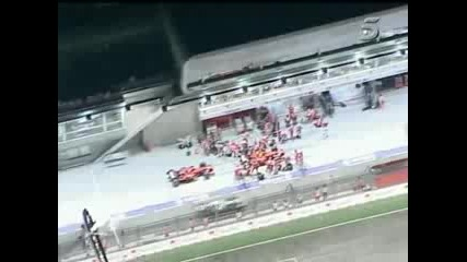 Massa Accident In PIt Lane - Singapore