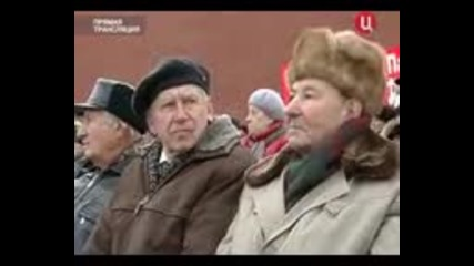 Парадът в Москва на Червения площад на 7.11.2011г