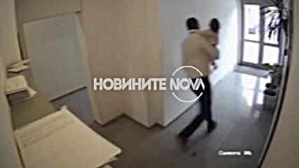 САМО ПО NOVA: Охранителна камера показва бягството на мъжа с детето