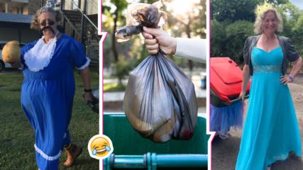 Домакини изхвърлят боклука, облечени като... принцеси. Ето защо
