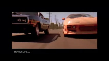 Fast and Furious scene Brian O'conner and Dominic Toretto