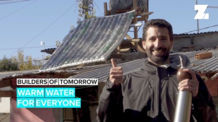 Builders of Tomorrow: Solar water heater from plastic bottles