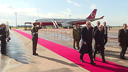 Algeria: Erdogan touches down in Algiers for talks on Libya