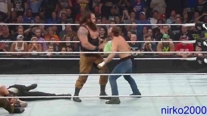 Roman Reigns & Dean Ambrose vs. Bray Wyatt & Luke Harper: Wwe Първична сила 24.08.2015
