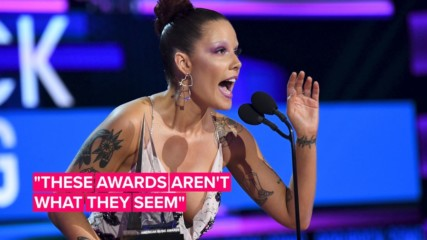 Halsey not-so-subtly shades the Grammys in AMA speech