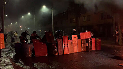 Colombia: Water cannon deployed to disperse protesters in Bogota