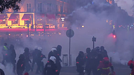 France: Tear gas billows in streets of Paris at 'Yellow Vests' protest