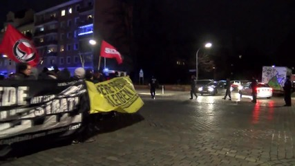 Germany: Antifa activists protest against Germany's military involvement in Syria