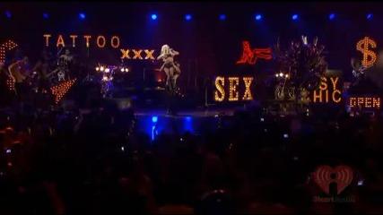 Lady Gaga - Alejandro; Telephone & Paparazzi (live At iheartradio 2011) Hd (високо качество)