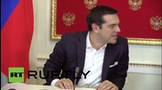 Russia: Tsipras voices opposition to sanctions on Russia