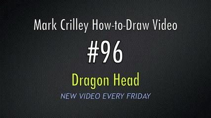 Как да нарисуваме глава на дракон