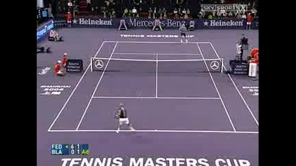 The Best Moments of Federer Vs. Blake (shanghai Masters Cup - Final)