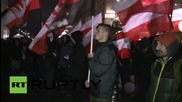 Poland: Anti-refugee protesters rally in Warsaw