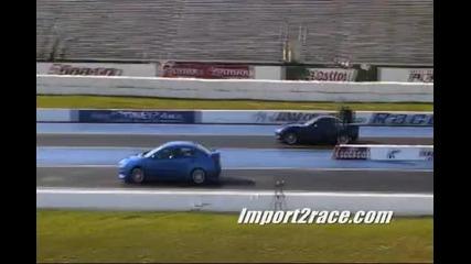 Evo X Gsr Срещу Corvette Z06
