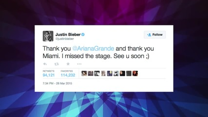 Justin Bieber Forgets Lyrics While Performing with Ariana Grande