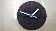 Страхотна оптична илюзия на стенен часовник