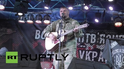 Ukraine: Nationalist march in Kiev ends with a concert