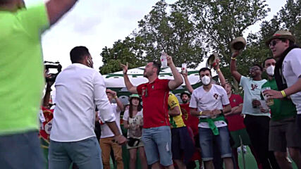 Hungary: Portuguese supporters warm up in Budapest fan zone ahead of Euro 2020 clash against Hungary
