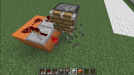 Minecraft Hidden Entrance with R. Torch (on the floor) Tutorial (kak da si napravim)