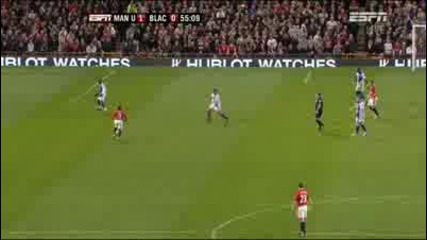 Бербатов с гол за Юнайтед срещу Блекбърн 31.10.09