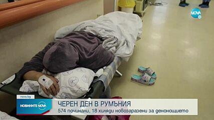 Черен рекорд в Румъния: 574 души са починали от COVID-19