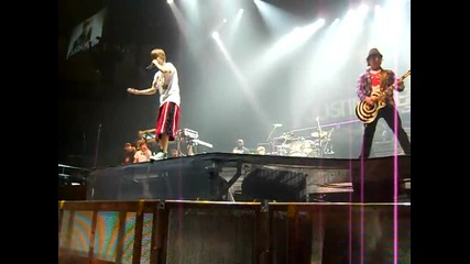 Justin Bieber Concert In Atl 8 - 9 - 10, Vip Sound Check Singing The Dan Kanter Song
