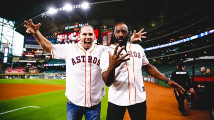 Booker T and Matt Hardy bring the heat at Astros game