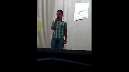 Николай Тояганов на сцена на 24 юли 2015 Гласът на Съединение