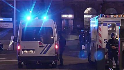 France: Paramedics rush to scene of Strasbourg shooting