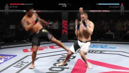 Ea Sports Ufc 2 Ps4 Gameplay - Fabrico Werdum vs Cain Velasquez