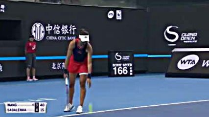 Wta 2018 China Open - Quarterfinal - Wang Qiang vs Aryna Sabalenka