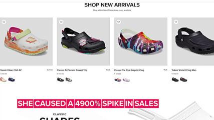 Nicki Minaj's naked Crocs photo crashes their website
