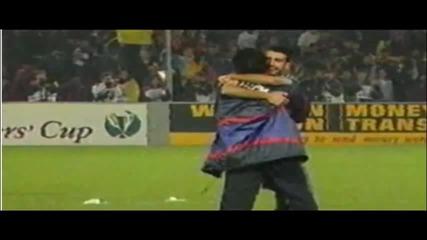 Забележително: Гуардиола и Моуриньо в бурни прегръдки преди 15 години