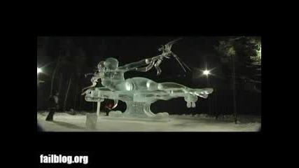 Ледена Скулптура Се Разпада