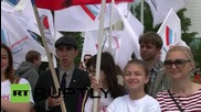 Russia: Pro-Putin rally held in Yekaterinburg on Russia Day