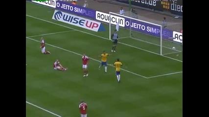 Бразилия - Дания 3:1 - головете 26.5.2012г.
